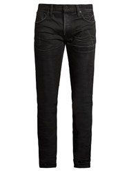 Mastercraft Union Slim Tapered Leg Crinkled Jeans Black