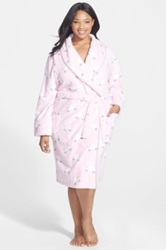 Pj Salvage 'Polar Plush' Robe Plus Size Pink