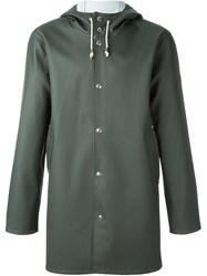 Stutterheim Hooded Coat Green