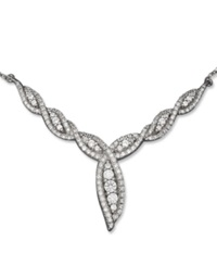 Wrapped In Love Swirl Link Diamond Necklace In 14K White 1 Ct. T.W.