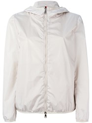 Moncler Hooded Lightweight Jacket Nude Neutrals