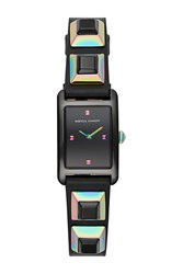 Rebecca Minkoff 'S Moment Studded Leather Strap Watch 19Mm X 30Mm Black