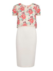 Gina Bacconi Floral Sequin And Beaded Top With Dress Multi Coloured