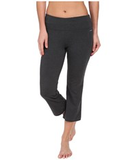 Jockey Active Slim Capri Flare Charcoal Gray