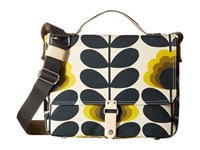 Orla Kiely Summer Flower Stem Satchel Sunshine Satchel Handbags Yellow