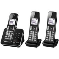 Panasonic Kx Tgd323eb Digital Cordless Phone With Nuisance Call Control And Answering Machine Trio Dect