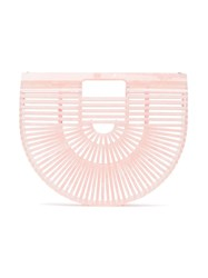Cult Gaia Pink Small Ark Bag Green