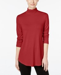 Jm Collection Turtleneck Top Only At Macy's New Red Amore