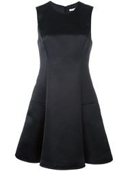 P.A.R.O.S.H. Satin A Line Dress Black