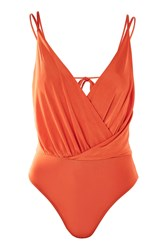 Topshop Wrap Slinky Body Red