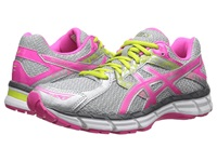 Asics Gel Excite 3 Silver Hot Pink Lime Punch Women's Running Shoes Gray