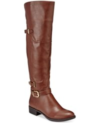 Styleandco. Style Co. Adaline Over The Knee Boots Only At Macy's Women's Shoes Cognac