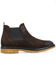 Buttero Chelsea Boots Men Leather Suede Rubber 41.5 Brown
