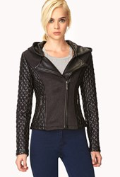 Forever 21 Tres Chic Quilted Faux Leather Jacket