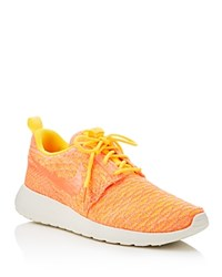 Nike Women's Roshe One Flyknit Sneakers Laser Orange Bright Mango