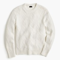 J.Crew Wallace And Barnes Cotton Cable Sweater White