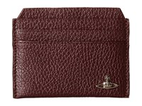 Vivienne Westwood Leather New Credit Card Holder Bordeaux Credit Card Wallet Burgundy