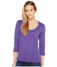 Mod O Doc Slub Jersey 3 4 Sleeve Scoopneck Tee Napa Women's Long Sleeve Pullover Purple
