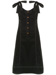 Lilly Sarti Gabardine Dress Black
