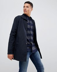 French Connection Lined Funnel Neck Trench Navy