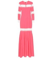 Huishan Zhang Long Sleeved Dress Pink
