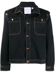 Telfar Classic Denim Trucker Jacket Black