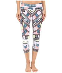 Mara Hoffman Voyager Cropped Leggings White Multi Women's Casual Pants
