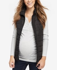 Motherhood Maternity Quilted Puffer Vest Black