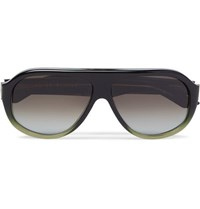 Kirk Originals Reed Aviator Style Acetate Sunglasses Green
