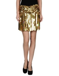 Roberto Cavalli Mini Skirts Gold