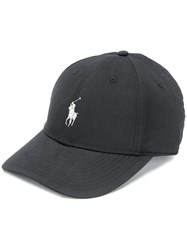 Polo Ralph Lauren Embroidered Logo Baseball Cap Black