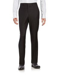 Kenneth Cole Reaction Textured Straight Leg Pants Charcoal