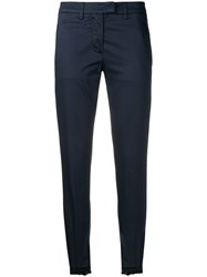 Dondup Navy Skinny Trousers Blue