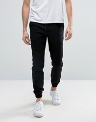 Kiomi Cuffed Wool Jogger Black