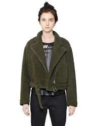 Mm6 Di Maison Margiela Faux Shearling Jacket