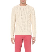 Ralph Lauren Cable Knit Cotton Jumper Cream