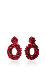 Bibi Marini M'o Exclusive Beaded Drop Earrings Red