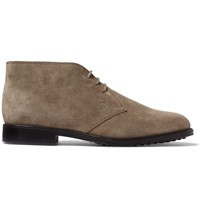 Tod's Suede Chukka Boots Gray