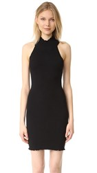 525 America Lettuce Edge Mock Dress Black