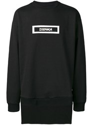 D.Gnak Back Tail Sweatshirt Black