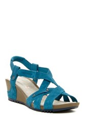 Merrell Revalli Cross Wedge Sandal Blue