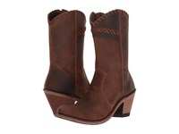 Old West Boots Crisscross Stitch Boot Brown Cowboy