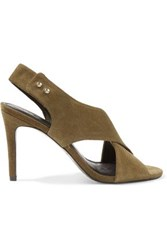 Sandro Suede Sandals Army Green