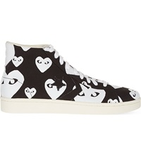 Comme Des Garcons Converse High Top Trainers White Heart