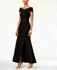 Betsy And Adam Off The Shoulder Gown Black