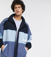 Noak Wadded Cut And Sew Jacket In Black And Blue