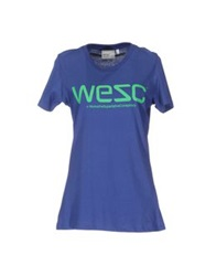 Wesc Short Sleeve T Shirts Blue