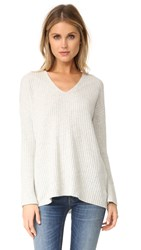 Rag And Bone Phyllis Cashmere Sweater Light Grey