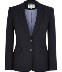 Austin Reed Navy Stretch Classic Jacket Blue
