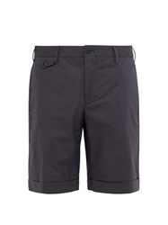 Incotex Tailored Cotton Blend Poplin Shorts Grey